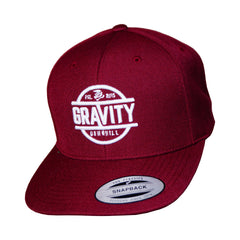 Gravity Maroon High Profile Hat