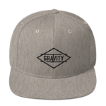 Whistler Heather Grey / Black Snapback Hat