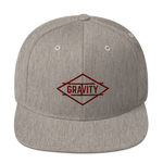 Whistler Heather Grey / Maroon Snapback Hat