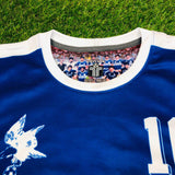 "F.C. Motagua, Men's Retro Soccer Jersey, 1988, BLUE ""Replica"""