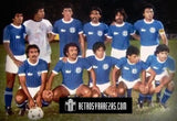 "El Salvador, Men's Retro Soccer Jersey, VISIT 85-86, Plain Back, White ""Replica"""