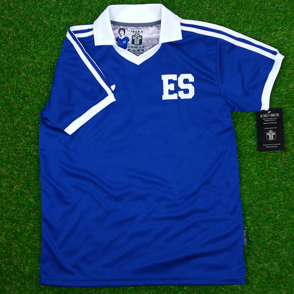 El Salvador, Men's Retro Soccer Jersey, World Cup España 82, Mágico #11, Blue