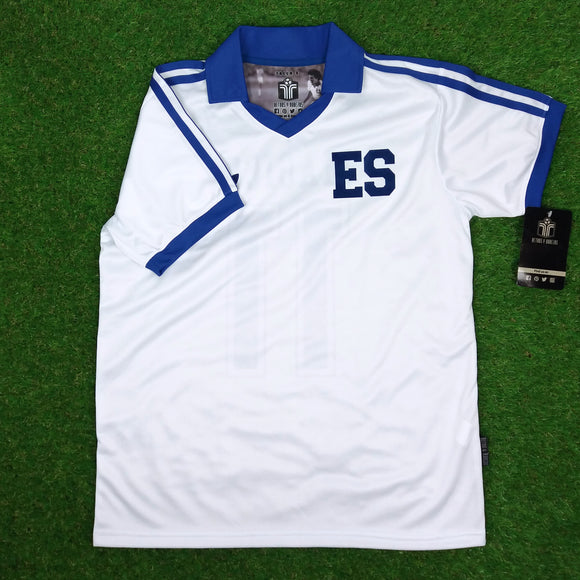 El Salvador, Men's Retro Soccer Jersey, World Cup España 82, Mágico #11, White