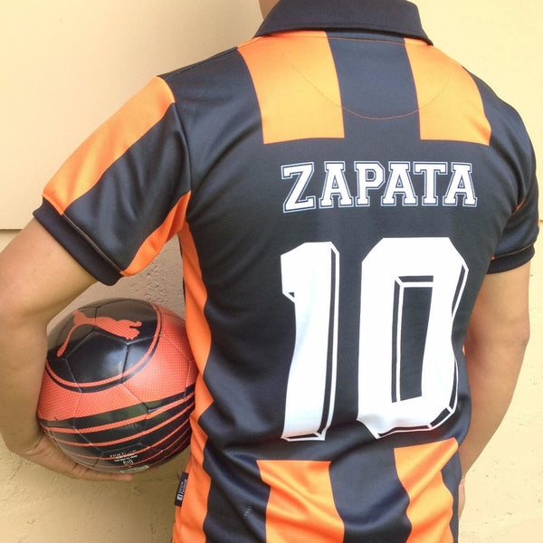 "CD Aguila, Men's Retro Soccer Jersey, Sanyo 87, Zapata #10 ""Replica"""