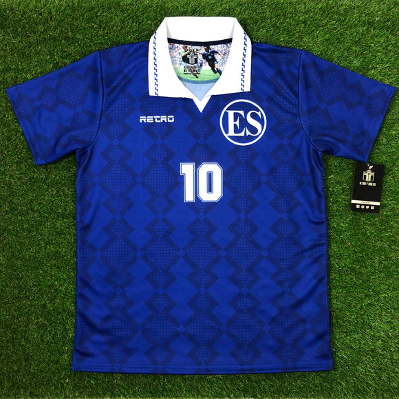 El Salvador, Men's Retro Soccer Jersey, 1993, #10