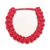 The Betty knotted collar - red