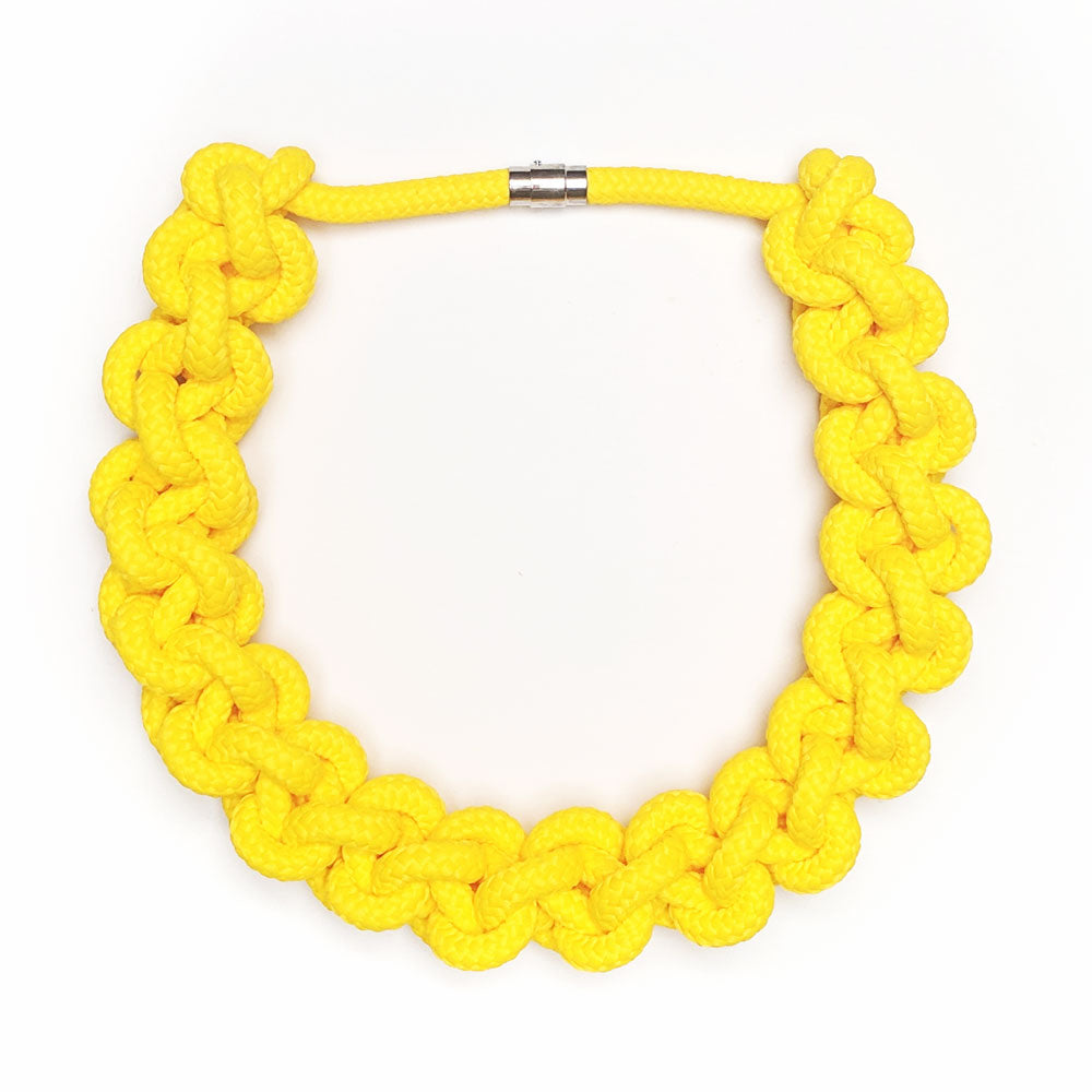 The Betty Knotted Collar - Yellow
