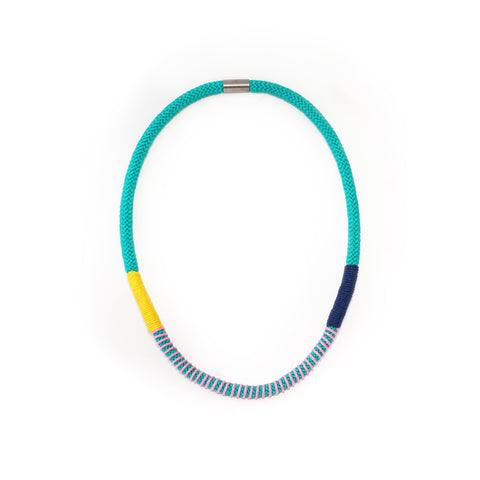 The Bey wrap necklace - aqua