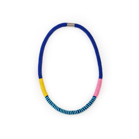 The Bey wrap necklace - Blue