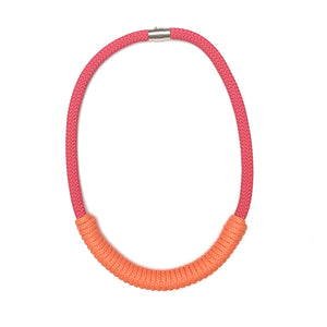 The Billie rope necklace (short) - Red & Orange