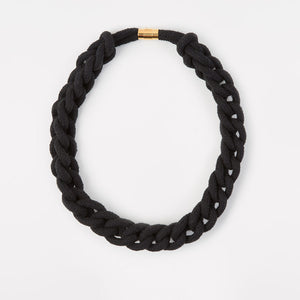 The Diana chain necklace - black