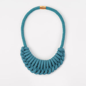 The Nina crescent necklace - teal