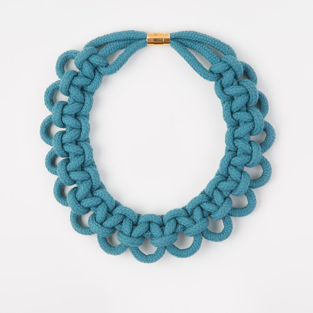 The Polly scalloped collar - teal