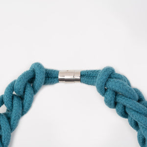 The Diana chain necklace - teal