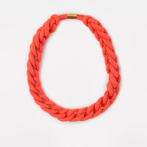 The Diana chain necklace - coral