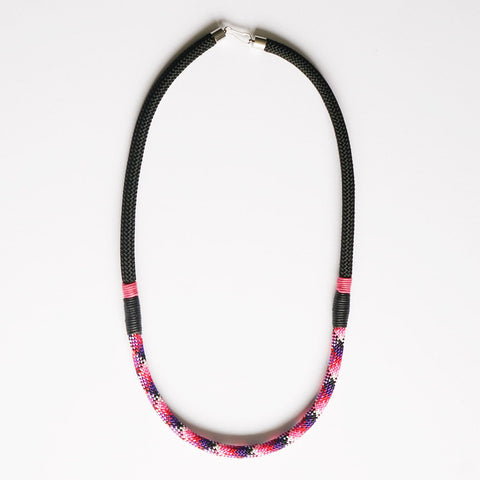 Nina patterned rope necklace - long