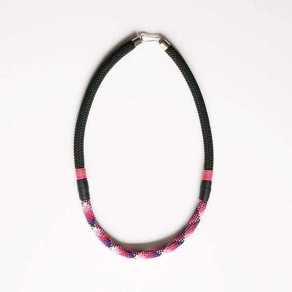 Nina patterned rope necklace - short