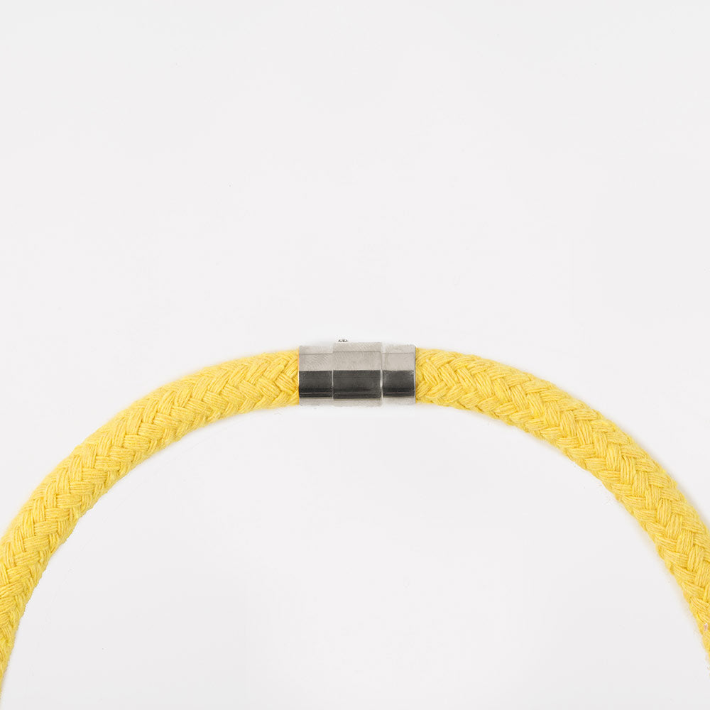 The Rosetta knotted pendant - yellow
