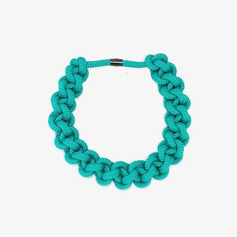 The Betty knotted collar - Aqua