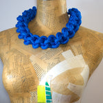 The Betty knotted collar - Blue