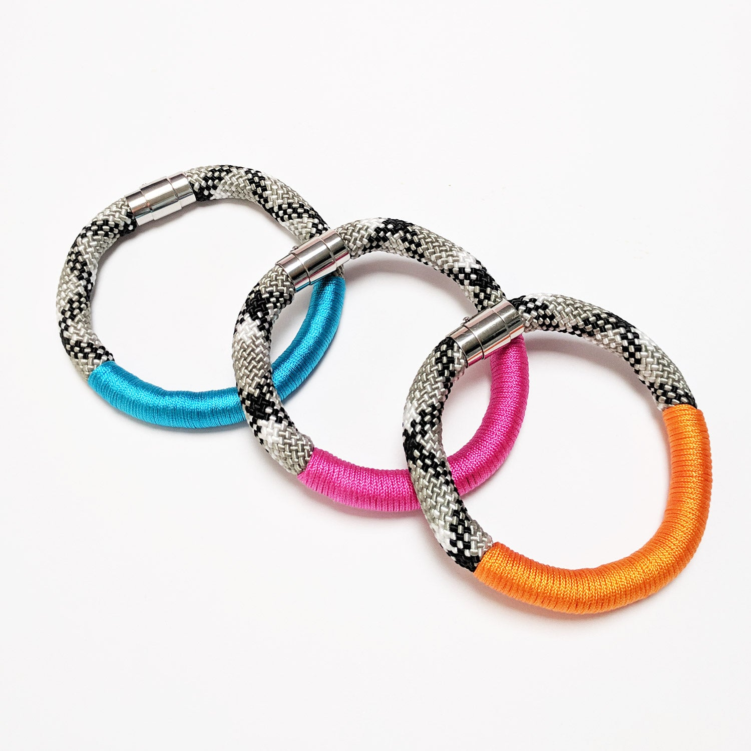 Colour block bracelets