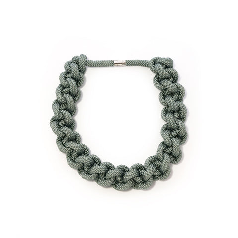 The Betty knotted collar - Grey