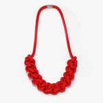 The Bette statement necklace - red