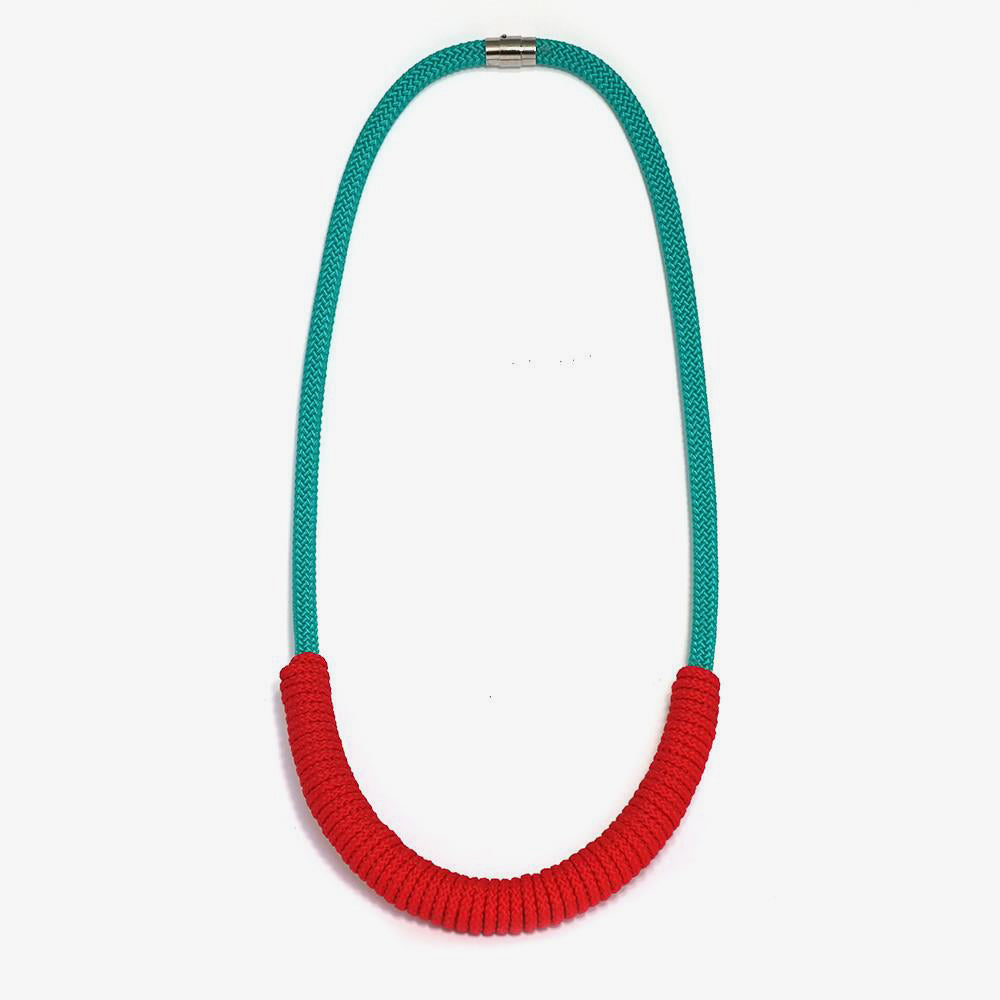 The Billie rope necklace (long) - aqua