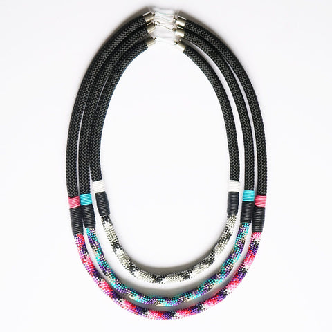 Nina patterned rope necklace - Set of three