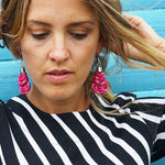 Grace earrings - deep pink