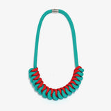 The Stevie rope necklace - Aqua