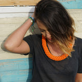The Tina knotted collar - Orange