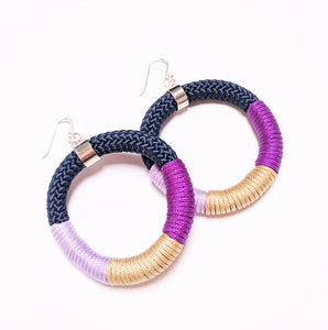 Limited edition wrap earrings - Violet and Gold