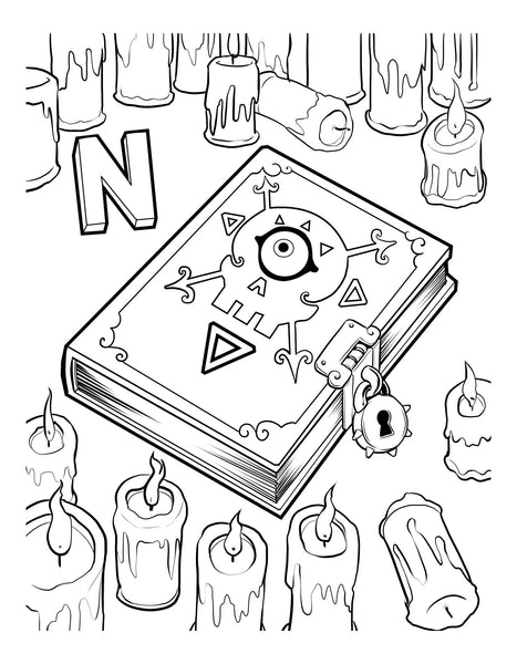 C is for cthulhu coloring book for Cthulhu coloring pages