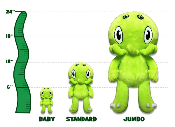 C is for Cthulhu JUMBO Plush (Green) [TWO FEET TALL!]