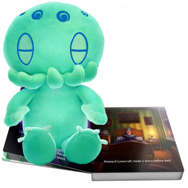 Sweet Dreams Cthulhu & Glow-in-the-Dark C is for Cthulhu Plush Bedtime Bundle