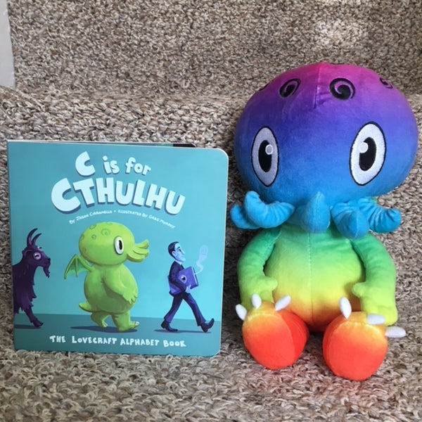 C is for Cthulhu Plush (Rainbow)