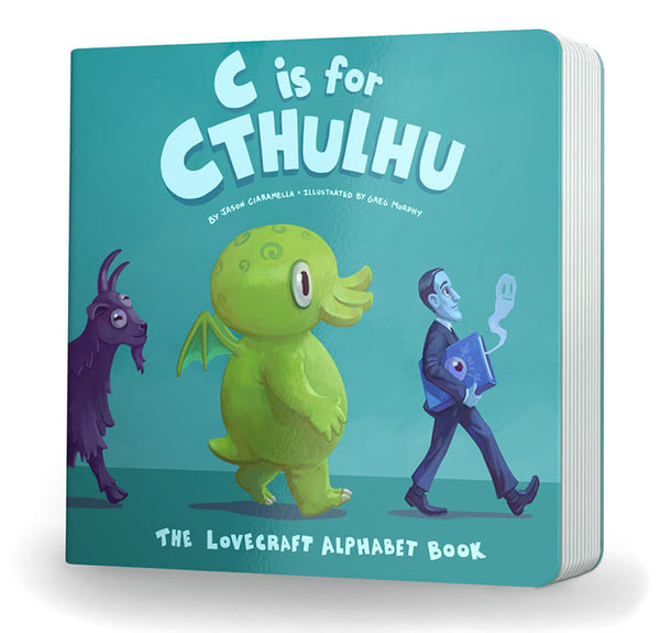 C is for Cthulhu Bedroom Bundle: Plush Toy, Board Book, and Movie Style Poster