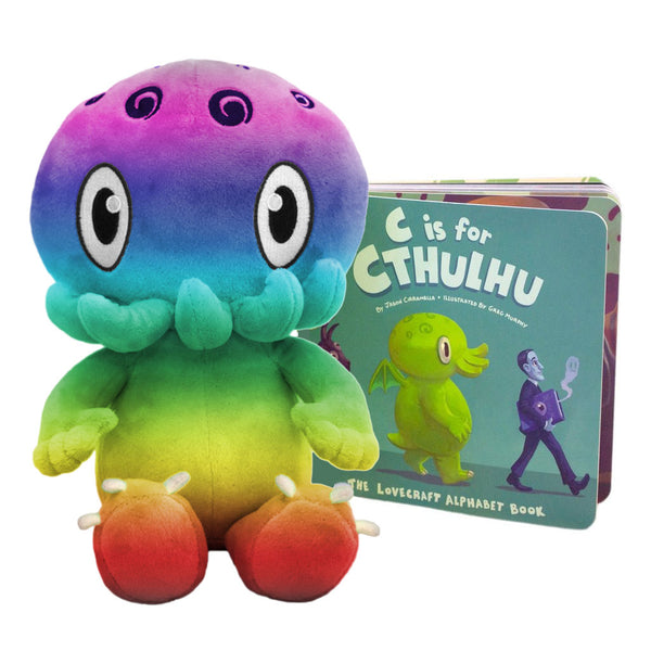 C is for Cthulhu Bedtime Bundle: Plush Toy and Board Book
