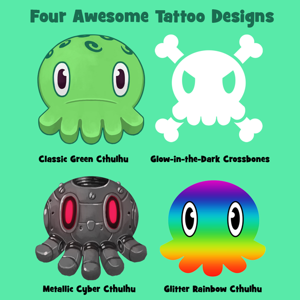 C is for Cthulhu Temporary Tattoos