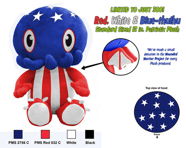 C is for Cthulhu Plush (Red, White & Blue) LIMITED EDITION