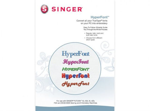 "Singer Futura ""Hyperfont"" Software XL400"