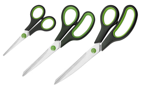 3 x Soft Grip Sewing Scissor Set