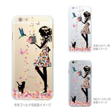 Cute Soft Clear iPhone Case - Flower Girl Cat Made in Japan by DHOUSE