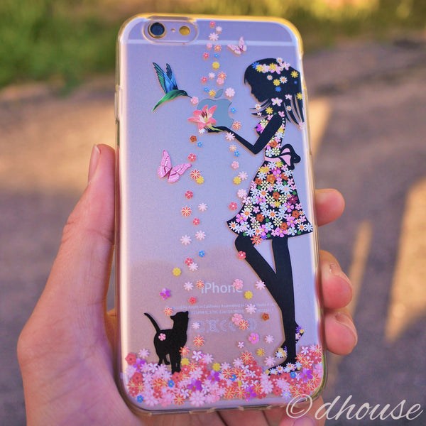 MADE IN JAPAN Soft Clear Case - Flower Girl Cat for iPhone 6/6s - Dhouse USA - 1