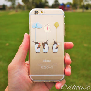 MADE IN JAPAN Soft Clear Case - Penguin Balloon for iPhone 6/6s - Dhouse USA - 1
