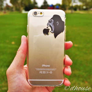 Cute Soft Clear iPhone Case - Ape Gorilla Made in Japan by DHOUSE