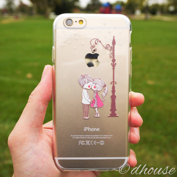 MADE IN JAPAN Soft Clear Case - Love Couple Kiss for iPhone 6/6s - Dhouse USA - 1