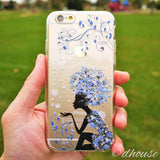 MADE IN JAPAN Soft Clear iPhone 6/6s Case - Snow Flower Princess - Dhouse USA - 1