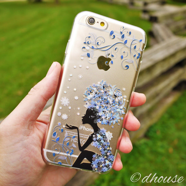 MADE IN JAPAN Soft Clear iPhone 6/6s Case - Snow Flower Princess - Dhouse USA - 4